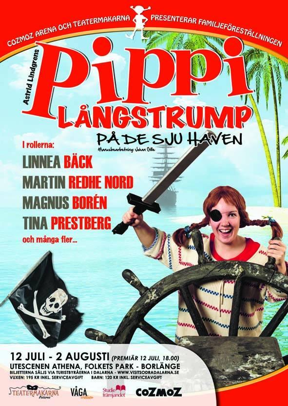 Pippi på de sju haven 2014 - affisch